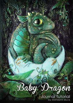 BABY DRAGON Polymer Clay Journal Tutorial by MyMandarinDucky