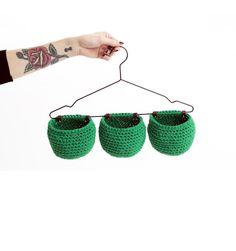 Hanging crochet baskets - Molla Mills