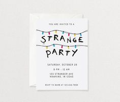 Stranger Things Party Invitation Digital File Printable