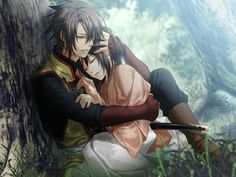 Hakuouki Hijikata And Chizuru || <--uhhhh..... No. That's not Hijikata. Okita Souji. This is an official game cg too. :3