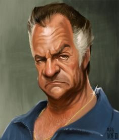 Pauli Gualtieri - Tony Sirico by ~Parpa Funny Caricatures, Celebrity Caricatures, Tony Soprano, Cartoon Faces, Comic Movies, Crazy People, Funny Art, Funny Images, Movie Stars