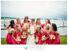 Married: Amber and Elliott » Scobey Photography  Coral Faille Bridesmaids Dresses