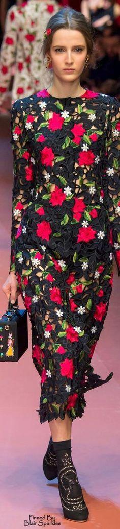 Fall 2015 RTW Dolce & Gabbana by Gloria Garcia