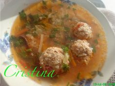 Cristina's world: Ciorba acra de legume, cu perisoare Romanian Food, Romanian Recipes, Dishes, Cooking, Ethnic Recipes, Soups, Kitchens, Kitchen, Tablewares
