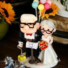 TOPO DE BOLO UP ALTAS AVENTURAS no Elo7 | Ateliê Juliana Louback (7B98AF) Carl Y Ellie, Relationship Goals, Heart, Cake, Desserts, Dress, Valentines Day Weddings, Weddings, Boyfriends