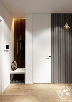Apartment Interior Design, Kitchen Interior, Small Room Decor, Living Room Decor, Built In Furniture, Modern Kitchen Design, Contemporary Interior, Flat Design, New Homes