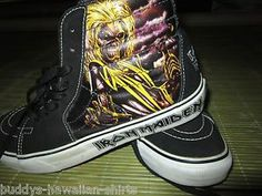 Vans Shoes Iron Maiden Killers SK8 size Men's 8 Women's 9.5 Retro Hi Tops