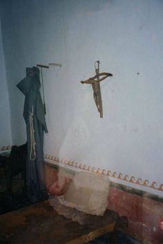 GHOST PRIEST: Photographed image taken at an old church.