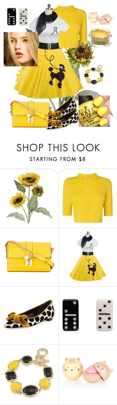 """""""Vintage Yellow"""" by klm62 ❤ liked on Polyvore featuring Pier 1 Imports, L.K.Bennett, Dolce&Gabbana, Manolo Blahnik, Marc Jacobs, 1st & Gorgeous by Carolee and vintage"""