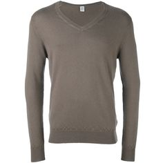 Eleventy v neck jumper (€305) ❤ liked on Polyvore featuring men's fashion, men's clothing, men's sweaters, brown, mens cashmere sweaters, mens cashmere v neck sweater, mens v-neck cashmere sweaters, mens brown sweater and men's v neck sweater