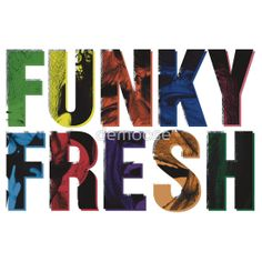 FUNKY FRESH Available to buy on… T-Shirts & Hoodies Stickers #jamesbrown #funk #soul #music #cool #typography