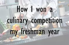 Nutritional science student, Tolu, explains how he and his team won a state-wide culinary competition their freshman year. #College #nutrition #student