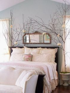 Bedroom to state the obvious...not sure on the wild foilage Dream Rooms 50ee26879