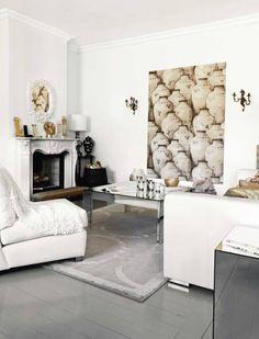 Gray floor + white walls