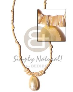 South East Asia 2 Coco Heishe Natural With Gold Mouth Coco Necklace sustainable unisex beach fashion jewelry. Wood Bracelet, Shell Bracelet, Wood Necklace, Shell Jewelry, Wood Earrings, Shell Earrings, Shell Necklaces, Beach Fashion, Shell Pendant