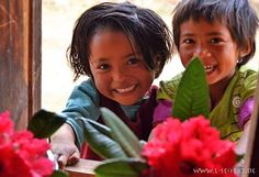 Children in Nepal. Unsere Patenkinder in Nepal