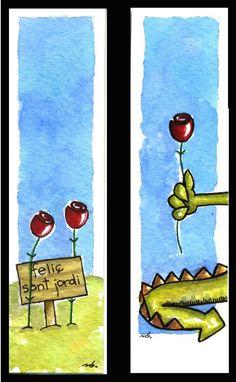 A Bookmark for St Jordi