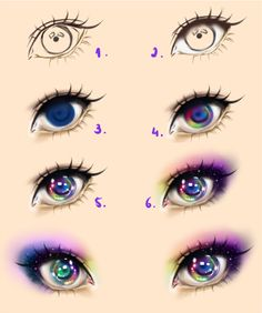 Galaxy Eyes - Tutorial by Kipichuu.deviantart.com on @deviantART