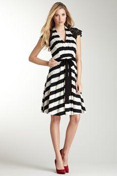 {Adela Dress} Eva Franco - stripes + lace