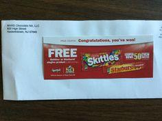 Free Skittles or Starburst Contest Win #freestuff #freebies #samples #free