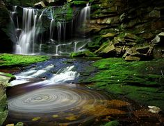 Elakala Waterfalls at Blackwater Falls State Park, West Virginia
