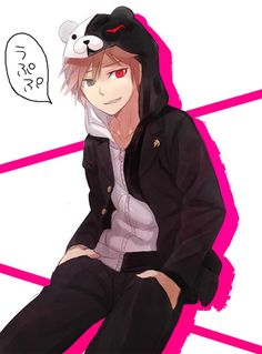 dangan ronpa~ naegi  he looks kinda cool for once