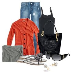 this is pretty much my daily outfit all year long. even with the black sunglasses and black bag. LOL