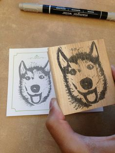 08/12/13 Blog Post  - Undefined Stamp Carving - and a Photoshop trick created Mya the Siberian Husky.   Mini tutorial in post.