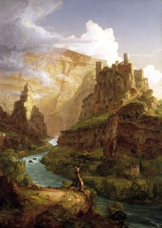 The Fountain of Vaucluse 1841  				Thomas Cole