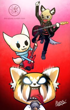 Aggressive Retsuko I hope to see something like this on the series!!! :'D They would totally rock as a real band!! If you haven't watched this series, I totally recommend it!! Specially if you have a shitty office job xD Buy me a coffee :3