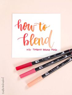 How to Blend Markers Tutorial: Tombow Brush Pens - Consumer Crafts lettering How to Blend Markers Tutorial: Tombow Brush Pens - Consumer Crafts Tombow Dual Brush Pen, Brush Pen Art, Tombow Markers, Watercolor Brush Pen, Brush Markers, Best Brush Pens, Copic Markers Tutorial, Coloring Brush Pen, Copic Pens