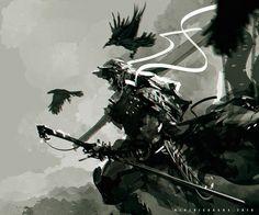 Samurai Crow by benedickbana.deviantart.com on @DeviantArt