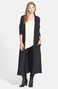 Eileen Fisher Long Plush Mélange Cardigan available at #Nordstrom