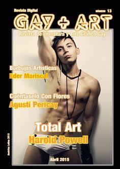 """Portada de la revista de literatura, cómic y arte gráfico gay """"Gay + Art"""" (nº. 13) en ComicSquare - #comic #comicsquare #gayart13 #gay #art #gayart #artegráfico #gráfico #cómic #revistadeliteratura #literatura #revista"""