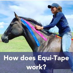 Equi-Tape is a non-invasive and effective therapeutic modality that can benefit your horse naturally! Horse Therapy, Horse And Human, Horse Anatomy, Kinesiology Taping, Dog Insurance, Horse Gear, Mini Farm, Chiropractic Care, Animal Care