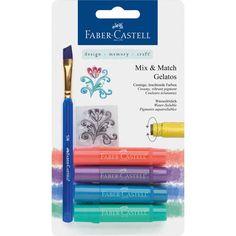 Faber-Castell Gelatos Mix and Match Crayon - Metallic Set of 4 for sale online Fineliner Pens, Faber Castell, Painting Tools, Artist Painting, Gelato, Crayon Crafts, Stationery Pens, Pen Sets