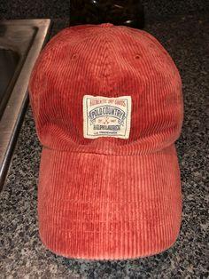 d9e0081c47577 Vintage Polo Ralph Lauren Leather Strap Dad Hat Cap Corduroy  fashion   clothing  shoes