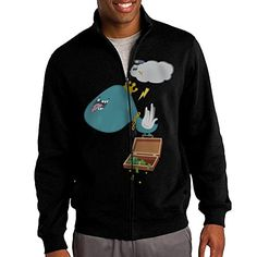 Hiro Mens Sweatshirt Cloud Policeman Fullzip Hoodie Jacket XL Black * Want additional info? Click on the image.(This is an Amazon affiliate link)