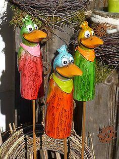 Zaunhocker Beetstecker Figur Rabe Dekoration Zaun Garten Terrasse Beet Vogel in Garten & Terrasse, Dekoration, Gartenfiguren & -skulpturen | eBay