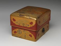 Box (Sumiaka tebako) with Design of Pine, Bamboo, and Plum | Japan | Edo period (1615–1868) | The Met