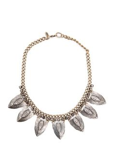 TOUCH - Crystal embellished petals necklace