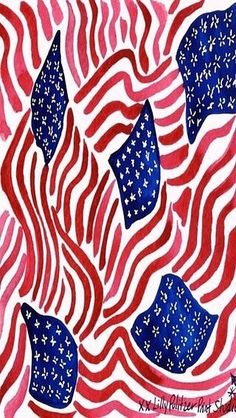 USA Flag Lilly Pulitzer Print Design Wallpaper of July Independence Lilly Pulitzer Prints, Lily Pulitzer Wallpaper, Walpaper Black, Pretty Patterns, Illustrations, Vinyl Crafts, Red White Blue, Fourth Of July, Memorial Day