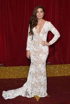 Celebrity Style Inspiration: Sheer dresses Nikki Sanderson at The British Soap Awards in Manchester.