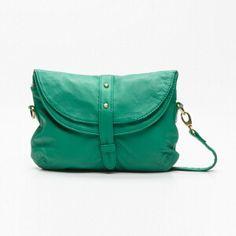 Pochette Bianca vert en cuir|22 x 17 x 4 cm #petitemendigote