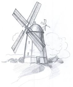How to Draw a Windmill: 8 steps (with pictures) - wikiHow