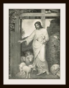 JESUS CHRIST - Late 1800's Bible Illustration Book Page by KnickofTime