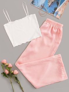 To find out about the Rib Cami Top With Pants PJ Set at SHEIN, part of our latest Night Sets ready to shop online today! Girls Fashion Clothes, Teen Fashion Outfits, Swag Outfits, Preteen Fashion, Teenage Outfits, Style Clothes, Fashion Black, Gothic Fashion, Fashion Fashion
