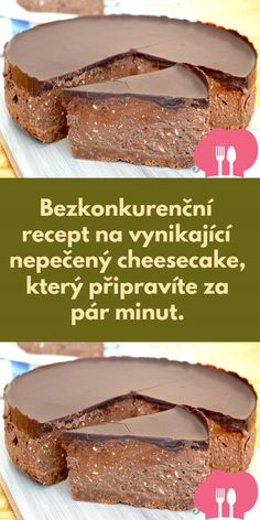 Brownie Cupcakes, Luxury Food, Czech Recipes, Chocolate Sweets, Sweet Desserts, Cheesecakes, Food And Drink, Baking, One Day