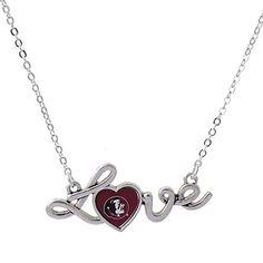 Florida State Seminoles FSU Heart Love Script Fashion Necklace J and D Jewelry and More http://www.amazon.com/dp/B00EJN3XXA/ref=cm_sw_r_pi_dp_Eifdwb0AGNKWC