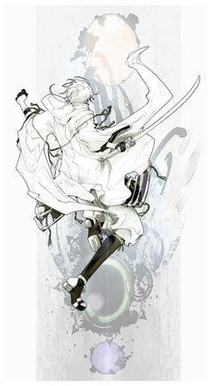 鶴丸国永 Manga Art, Manga Anime, Anime Art, Hot Anime Boy, Anime Guys, Touken Ranbu, Noragami, Character Illustration, Illustration Art